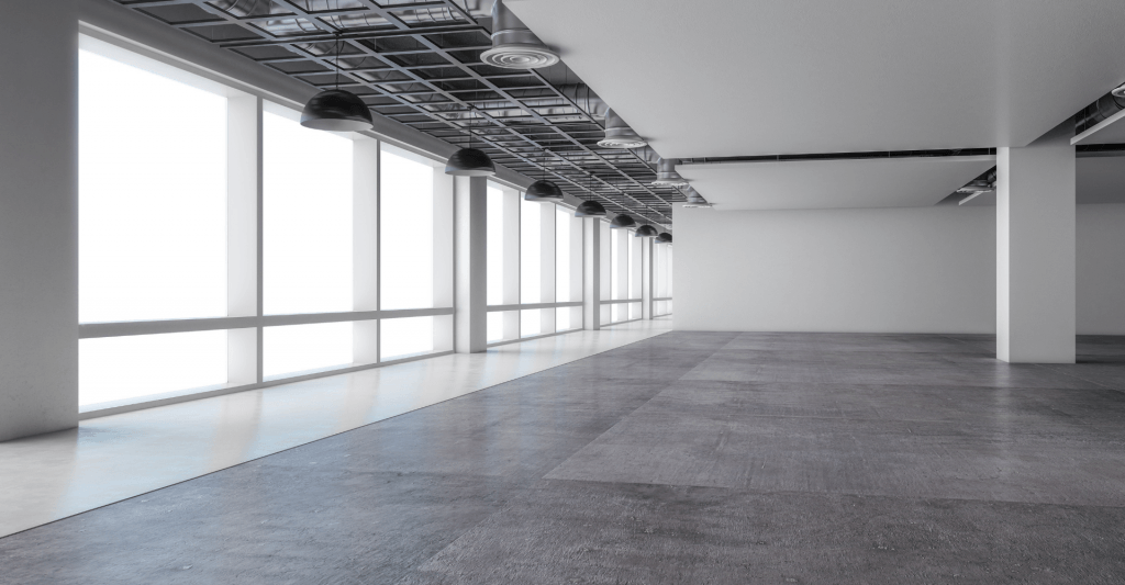 image of an empty white office space after a category a fit out