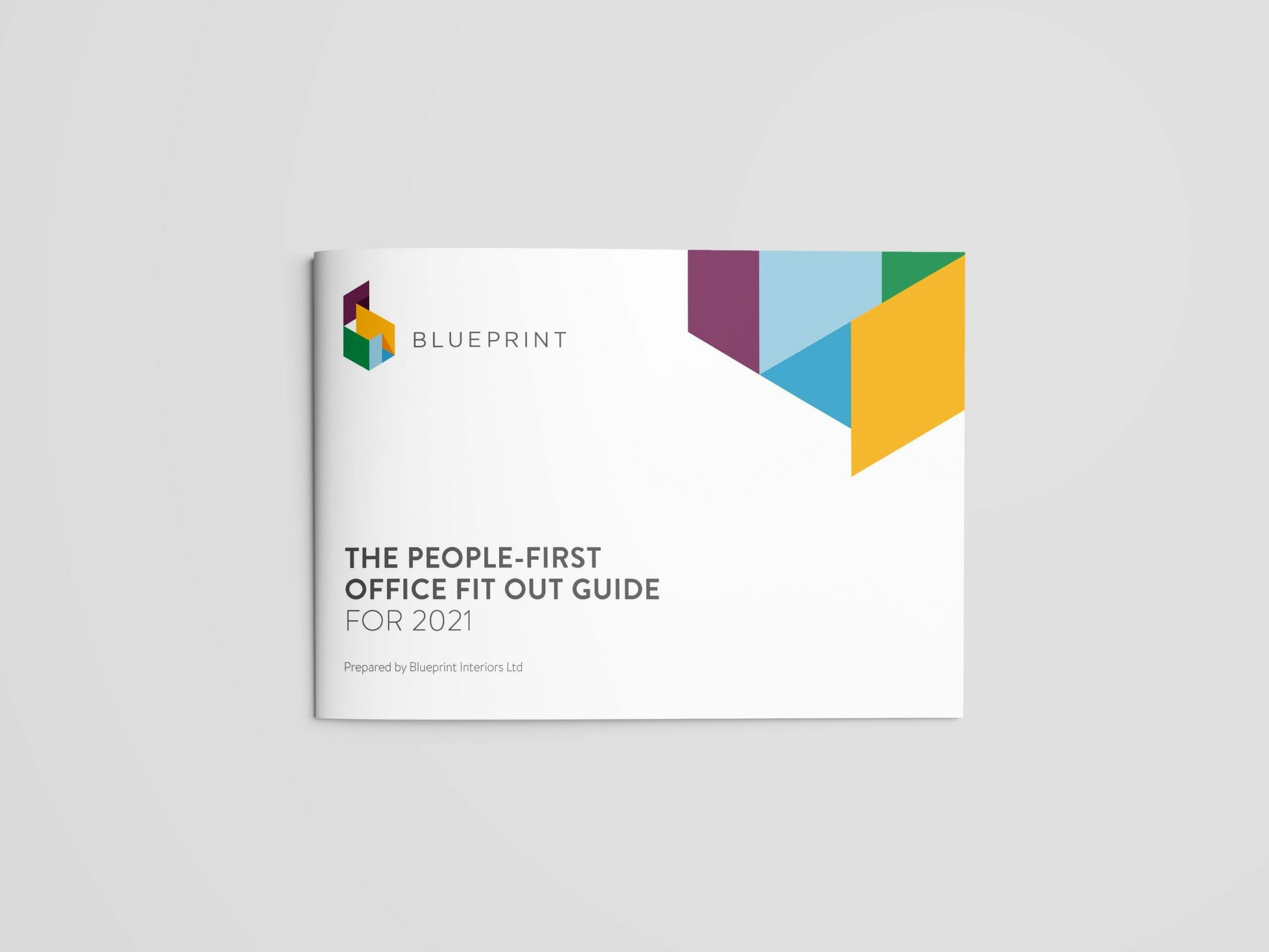 BP-R-03.21 Blueprint Office Fitout Guide A4 Landscape Brochure Mockup